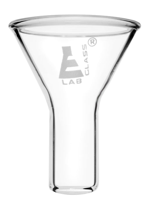 Powder Funnel, 45mm - 60º Angle - Plain Stem, 20mm - Borosilicate Glass - Eisco Labs