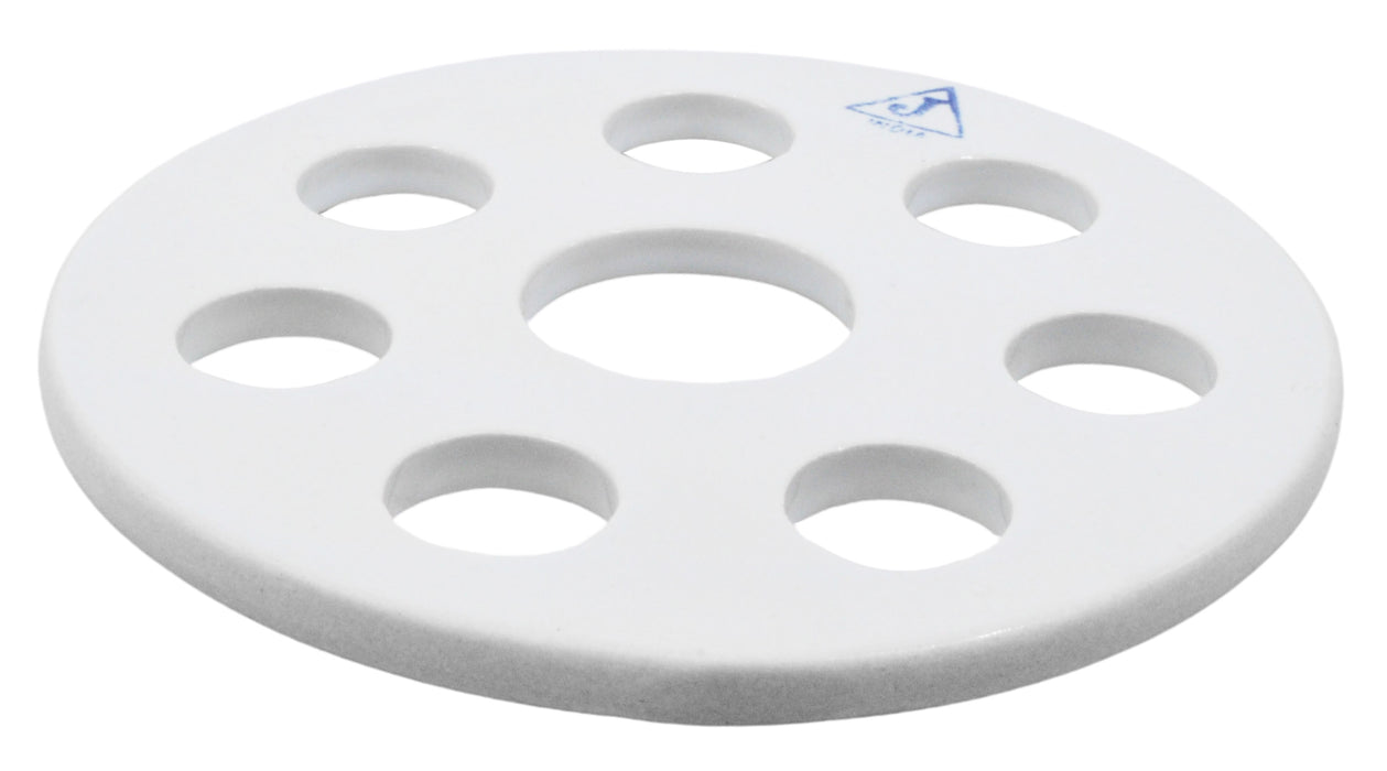 Desiccator Vacuum Plate, 7.5 Inch - Porcelain - Perforated - For 20cm Desiccator - Eisco Labs