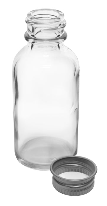 McCartney Bottle, 1oz - Narrow Mouth, Aluminum Screw Cap with Foam Liner - Eisco Labs