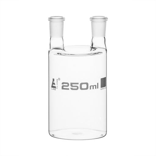 Woulff Gas Wash Bottle, 250ml - Borosilicate Glass - Two Necks