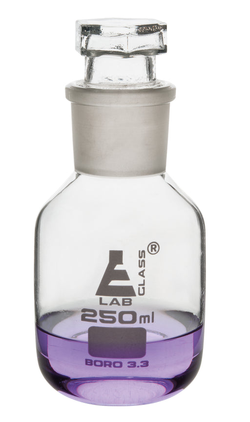 Eisco Labs 250ml Reagent Glass Bottle - Wide mouth with Stopper