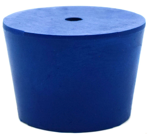 Neoprene Stopper ASTM, 1 Hole - Blue, Size #7 - 30mm Bottom, 37mm Top, 25mm Length - Pack of 10 - Eisco Labs