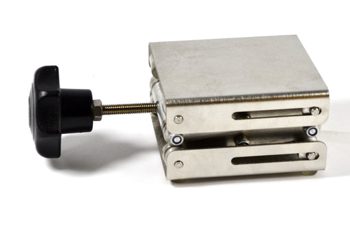 "Eisco Labs Stainless Steel Lab Jack - 3""x2.8"" Surface - 6"" max height - Dynamic Load - 2kg Static Strength - 15kg"