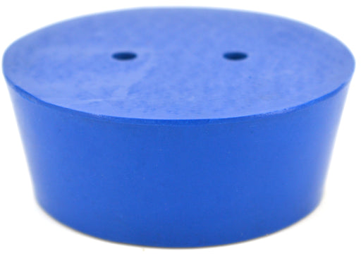 10PK Neoprene Stoppers, 2 Holes - ASTM - Size #12 - 54mm Bottom, 64mm Top, 25mm Length