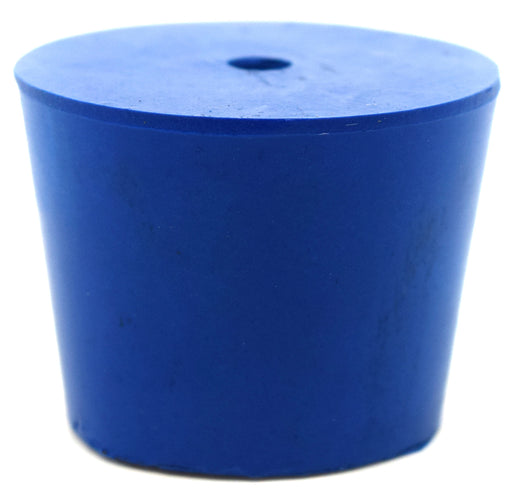 Neoprene Stopper ASTM, 1 Hole - Blue, Size #6.5 - 27mm Bottom, 34mm Top, 25mm Length - Pack of 10 - Eisco Labs