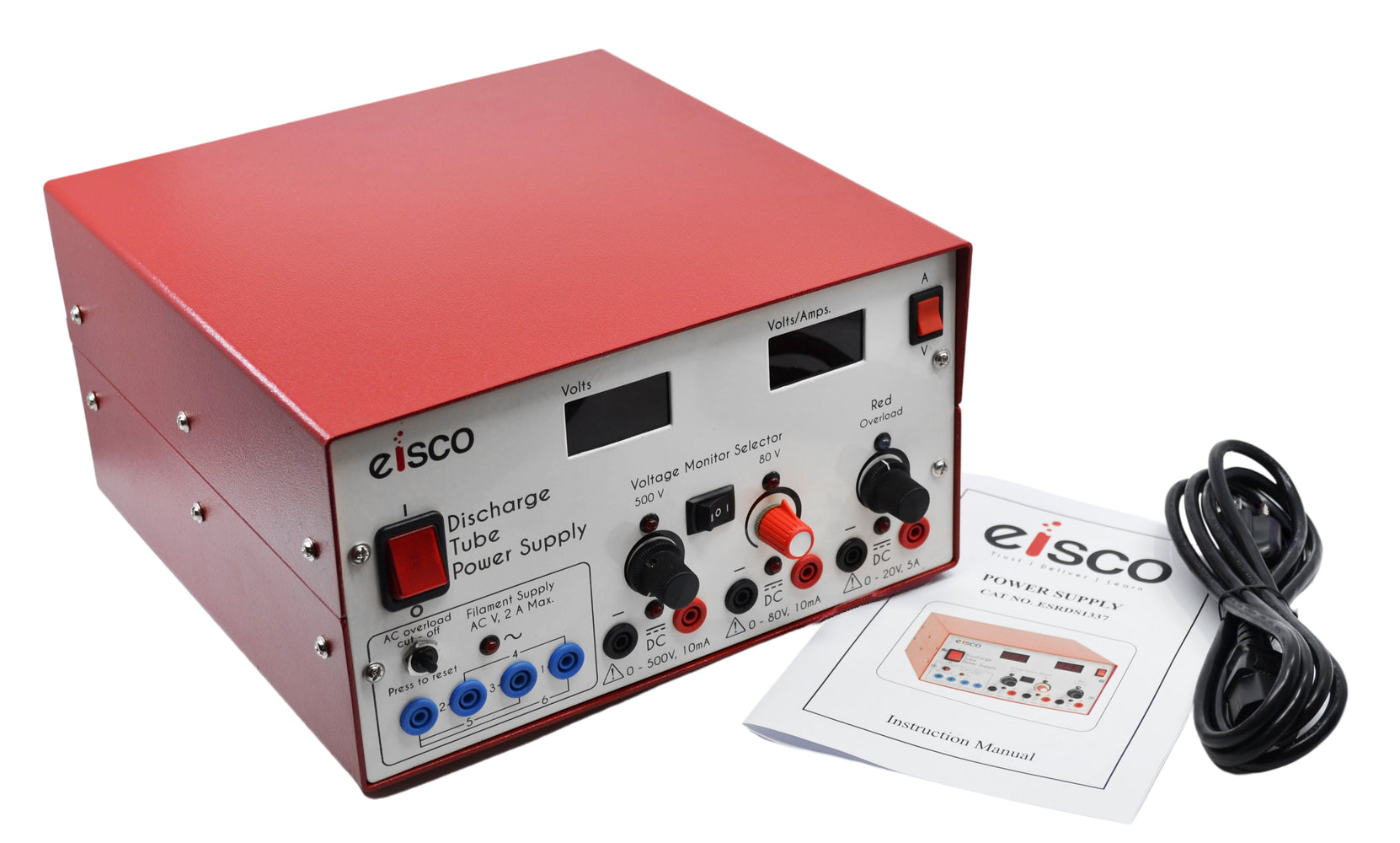 Power Supply, 11 Inch - Digital - Premium Quality - AC/DC - With Overload Protection - Eisco Labs