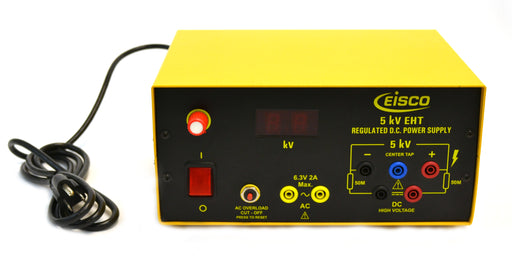100V to 5kV at 3mA DC Regulated Power Supply - High Voltage - 6.3V at 2A AC - Extra High Tension (EHT)