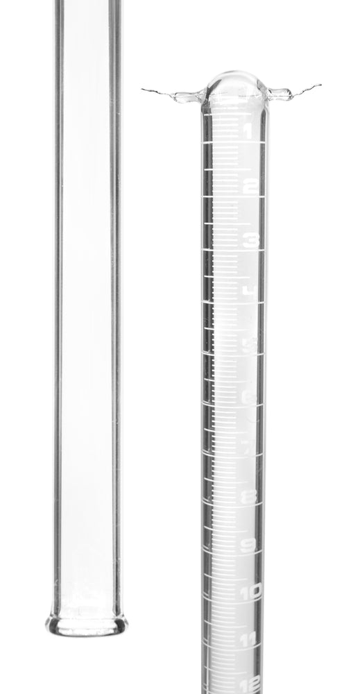 Eudiometer Tube, 50ml - Two Platinum Electrodes - White Graduations - Sealed End - Borosilicate Glass - Eisco Labs
