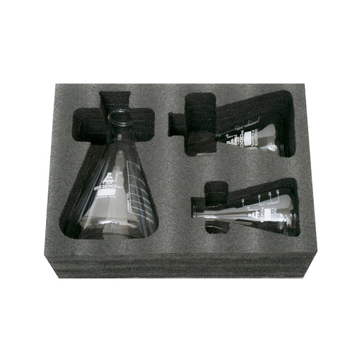 Safety Pack Erlenmeyer Flask Set - 500ml, 1000ml & 2000ml - Narrow Neck, Borosilicate 3.3 Glass