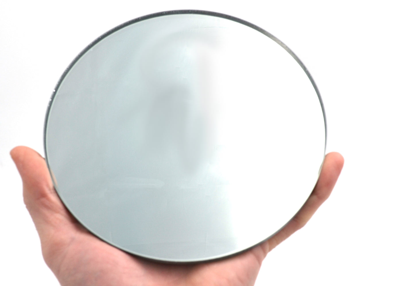 "Round Large Convex Glass Mirror - 6"" (150mm) Diameter - 150mm Focal Length - 5mm Thick Approx. - Eisco Labs"