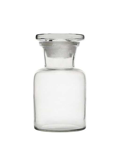 Reagent Bottle, 60ml - Wide Neck - Glass Stopper - Soda Glass