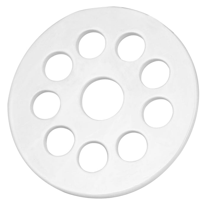 "Desiccator Plate with Holes, Unglazed Porcelain, 25cm (9.8"") Diameter - Eisco Labs"
