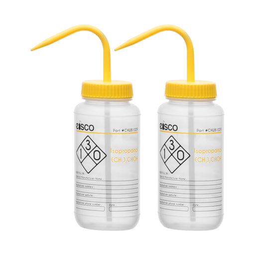 2PK Performance Plastic Wash Bottle, Isopropanol, 500 ml - Labeled (2 Color)