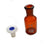 Eisco Labs 30 ml Amber Reagent Bottle , Narrow Mouth with Acid Proof Polypropylene stopper, socket size 14/23