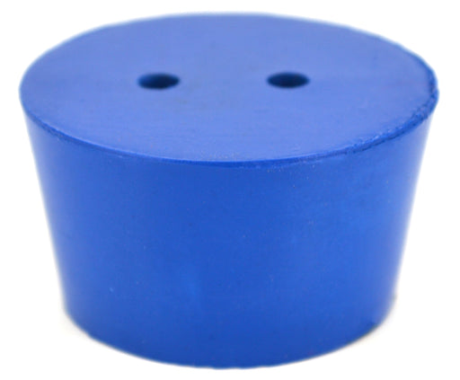 10PK Neoprene Stoppers, 2 Holes - ASTM - Size #8.5 - 36mm Bottom, 43mm Top, 25mm Length