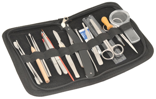 Dissection Set - 20 pc- Stainless Steel -Leather Storage Case - Eisco Labs
