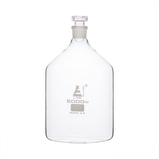 Bottle Reagent, Narrow mouth with glass stopper - 5000 ml