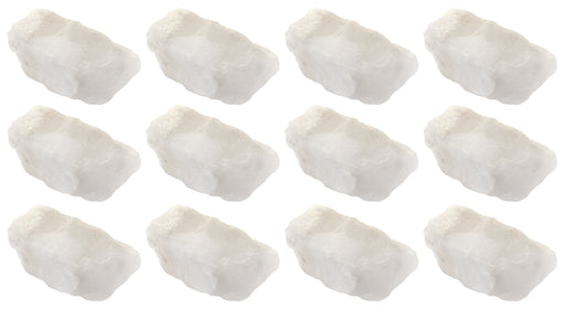 "12PK Raw Milky Quartz Specimen, 1"" - Geologist Selected Samples - Eisco Labs"