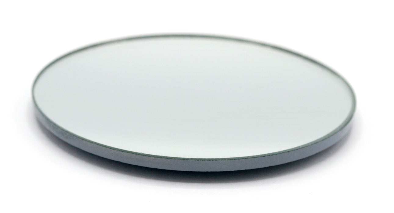 "Concave Mirror - 3"" dia., 100mm Focal Length - 2.8mm Thick - Glass - Eisco Labs"