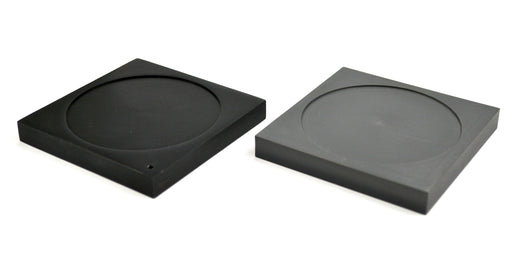Ice Melting Plates with Depression, 1 Aluminum Plate, 1 Plastic Foam Plate