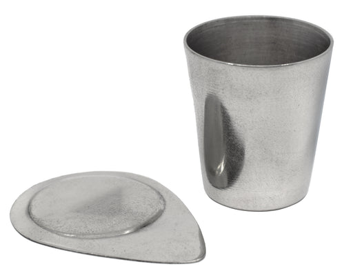 Crucible & Lid, 25ml - Nickel - Withstands Temperatures up to 1000??C - Eisco Labs