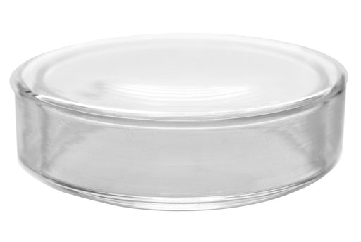 "Petri Dish, 3.15"" (80mm) - Beaded Edges - Easy to Sterilize for Repeated Use - Borosilicate Glass - Eisco Labs"