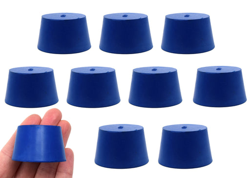 10PK Neoprene Stoppers, Solid - ASTM - Size: #8 - 33mm Bottom, 41mm Top, 25mm Length