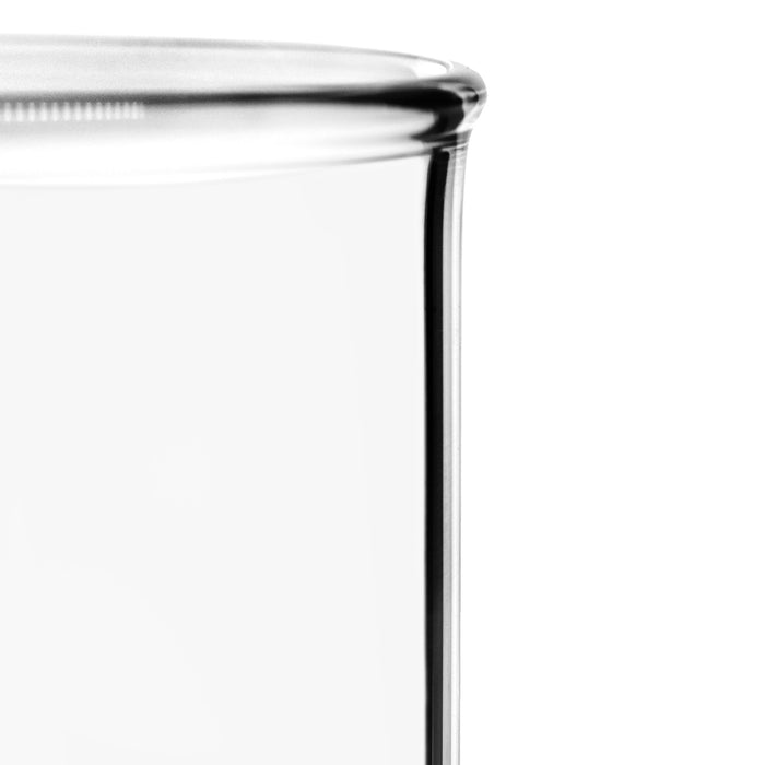 6PK Beakers, 1000ml - Low Form with Spout - White, 100ml Graduations - Borosilicate 3.3 Glass