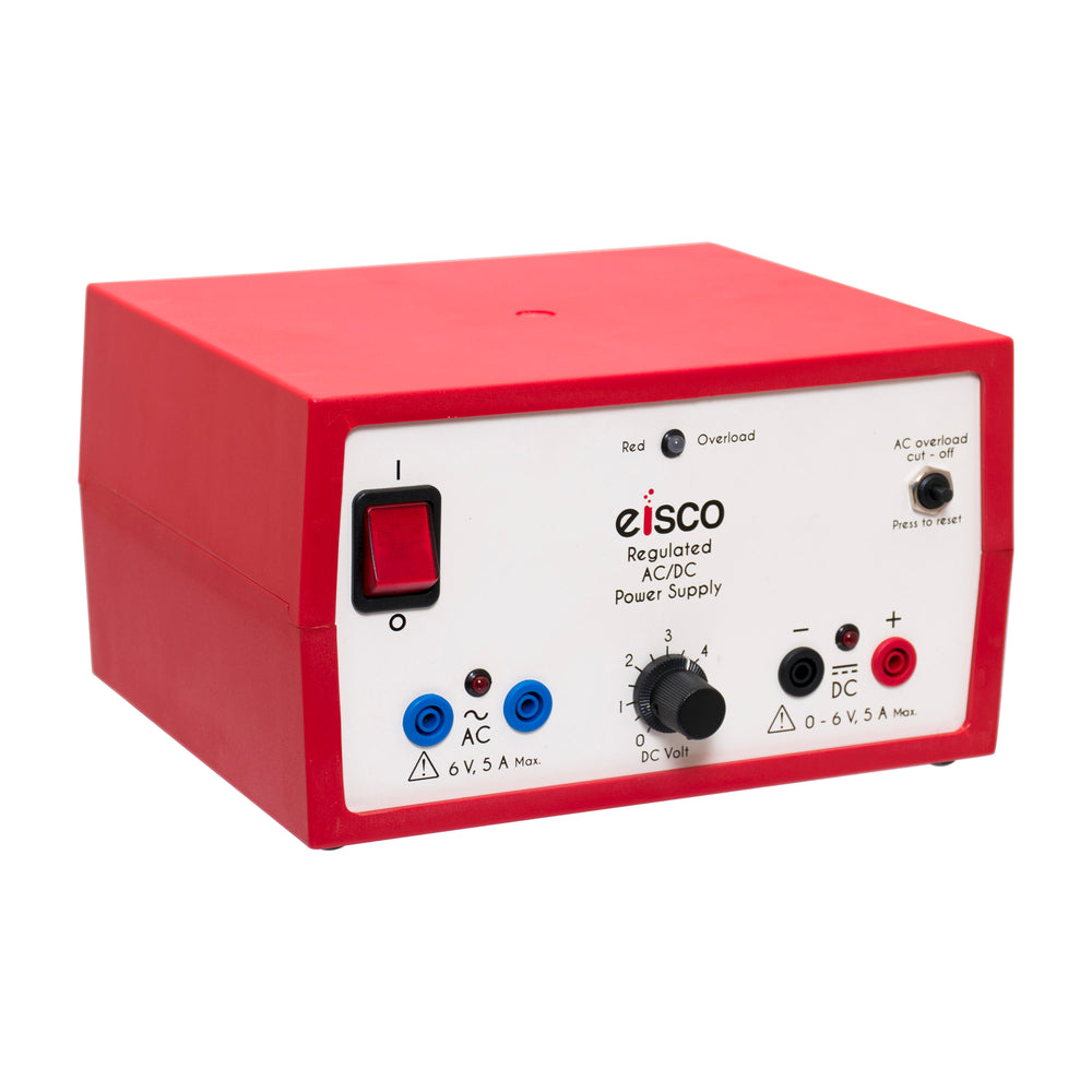 Eisco Dual Output Power Supply: 6 Volts AC, 0-6 Variable DC