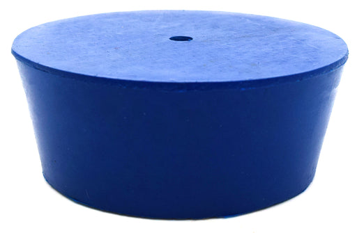 Neoprene Stopper ASTM, 1 Hole - Blue, Size #12 - 54mm Bottom, 64mm Top, 25mm Length - Pack of 10 - Eisco Labs