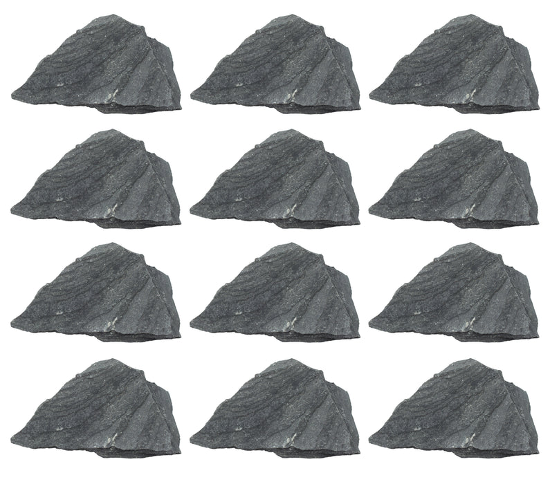 "12PK Raw Slate Rock Specimens, 1"" - Geologist Selected Samples - Eisco Labs"