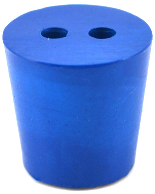 10PK Neoprene Stoppers, 2 Holes - ASTM - Size #4 - 20mm Bottom, 26mm Top, 25mm Length