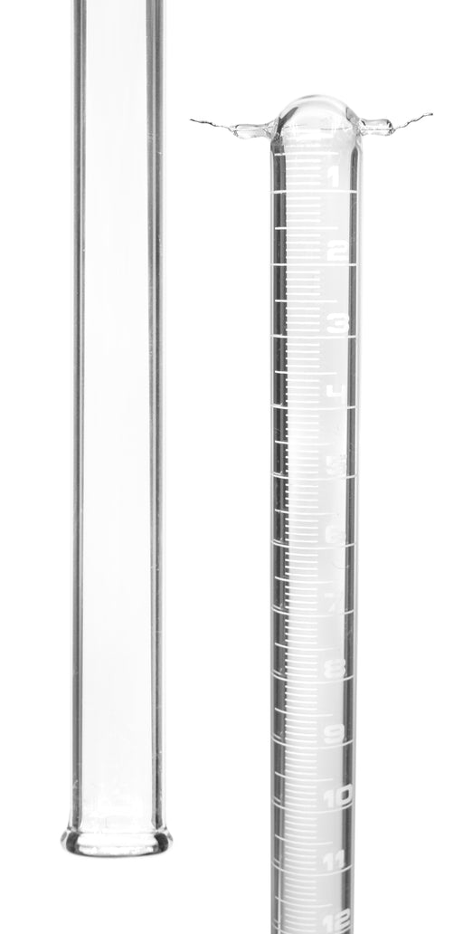 Eudiometer Tube, 100ml - Two Platinum Electrodes - White Graduations - Sealed End - Borosilicate Glass - Eisco Labs