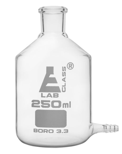 Aspirator Bottle, 250ml - with Outlet for Tubing - Borosilicate Glass - Eisco Labs