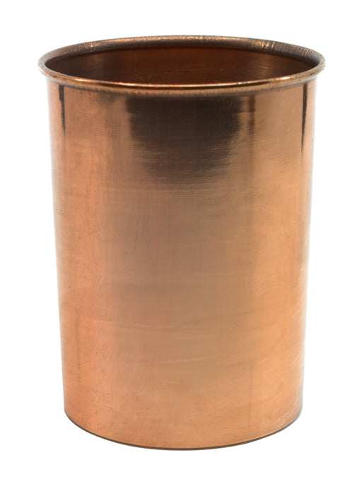 "Copper Calorimeter, 4"" x 2.75"" - Rolled Rim  & Parallel Sides - No Stirrer Included - Eisco Labs"