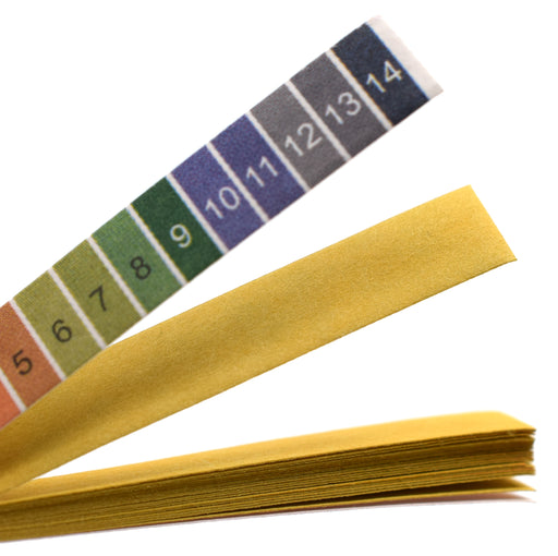 pH Test Paper, 100 Strips - pH Range 1 to 14 - Includes Plastic Storage Container - Eisco Labs