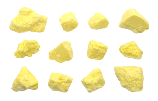 12 Pack - Raw Sulfur, Mineral Specimens - Approx. 1""