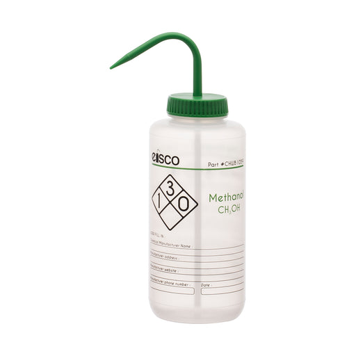 Wash Bottle for Methanol, 1000ml - Labeled (2 Color)