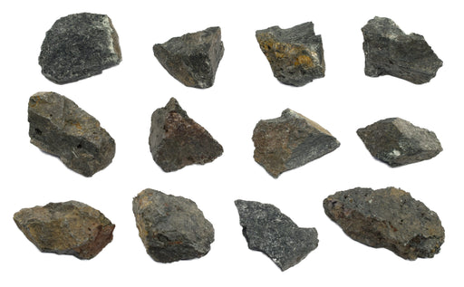 12 Pack - Raw Augite, Mineral Specimens - Approx. 1""