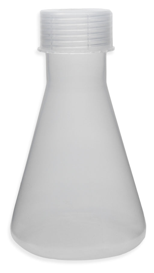 Conical Flask, 500ml - Translucent Polypropylene - With Screw Cap