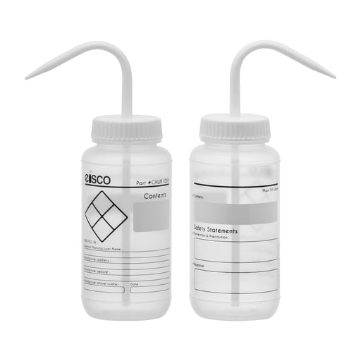 6PK Performance Plastic Wash Bottle, Blank Label, 500 ml