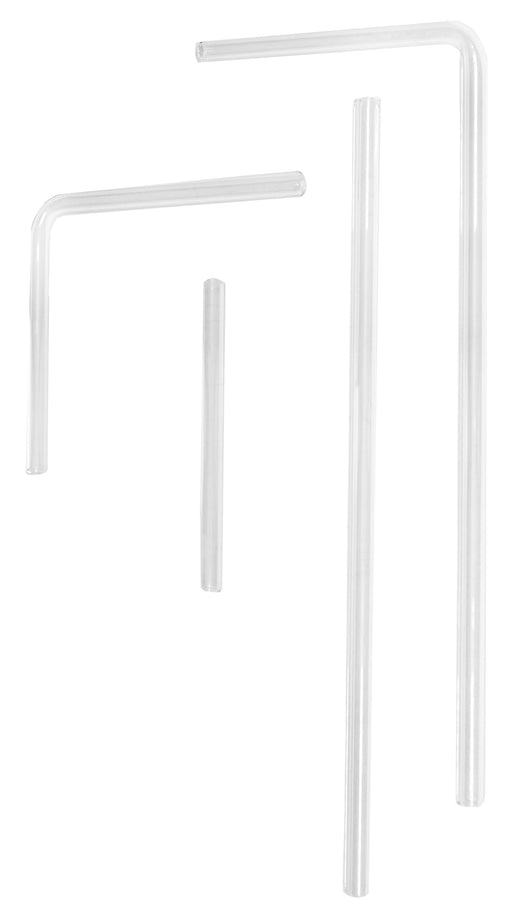 4 Piece Glass Delivery Tube Set - Variably Shaped - Borosilicate 3.3 Glass - Eisco Labs