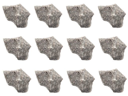 "12PK Raw Pink Granite, Igneous Rock Specimens - Approx. 1"" - Geologist Selected & Hand Processed - Great for Science Classrooms - Class Pack - Eisco Labs"