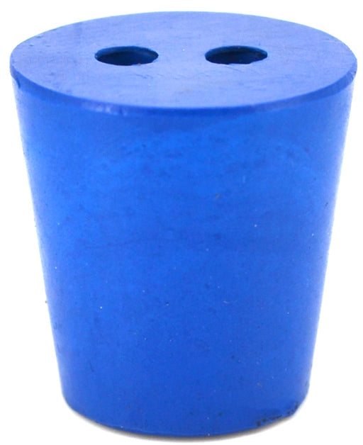 10PK Neoprene Stoppers, 2 Holes - ASTM - Size #3 - 18mm Bottom, 24mm Top, 25mm Length