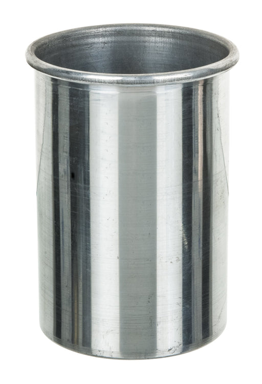 "Aluminum Calorimeter Inner Vessel with Parallel Sides and Rolled Rim, 4"" Tall, 3"" Diameter - Eisco Labs"