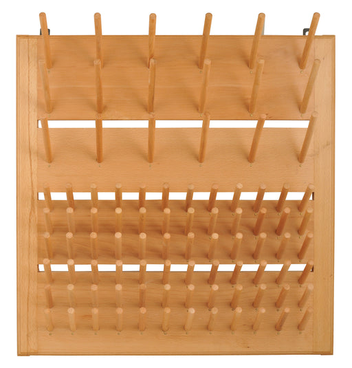 Wooden Draining Rack, Mountable - Accommodates 90 Pieces of Labware - Eisco Labs