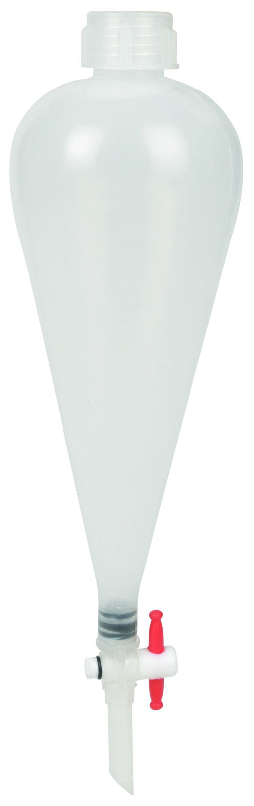 Separating Funnel, 100ml - Polypropylene - Polypropylene Stopcock, PTFE Plug - Leak-Proof Screw Cap - Eisco Labs