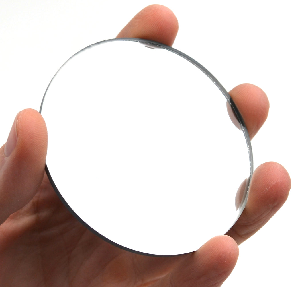 "Concave Mirror - 3"" dia., 300mm Focal Length - 3mm Thick - Glass - Eisco Labs"