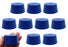 10PK Neoprene Stoppers, Solid - ASTM - Size: #10 - 42mm Bottom, 50mm Top, 25mm Length