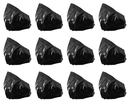 "12PK Raw Obsidian Specimen, 1"" - Geologist Selected Samples - Eisco Labs"